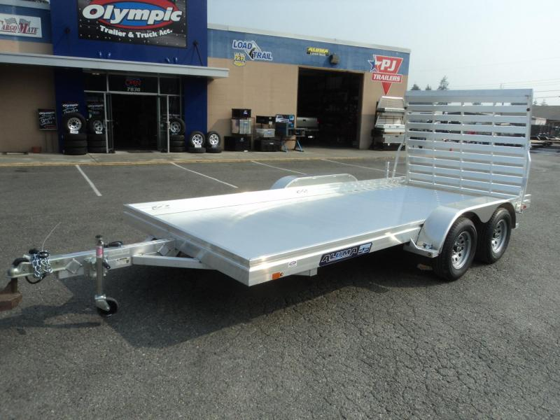 2021 Aluma 6.5x16 7K Tandem Axle Utility Trailer
