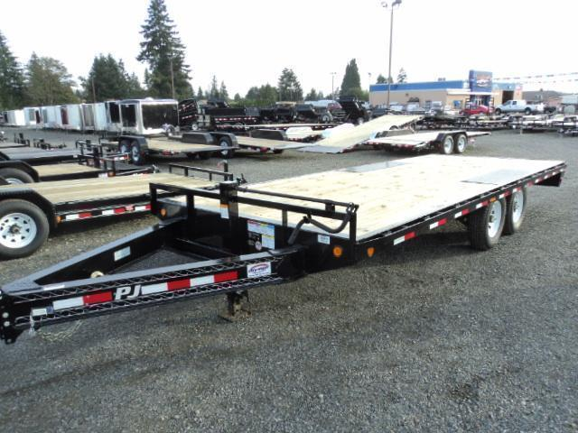 "2020 PJ 8.5X20 14K 8"" I-Beam Deckover (F8) Equipment Trailer"