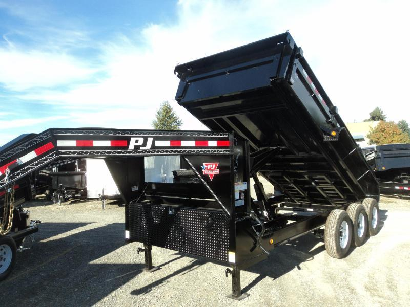 2020 PJ Trailers 7X16 21k Gooseneck Dump