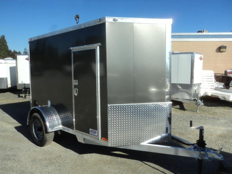 2020 Cargo Mate Aluminum 5x8 w/Extra Height/Ramp Door