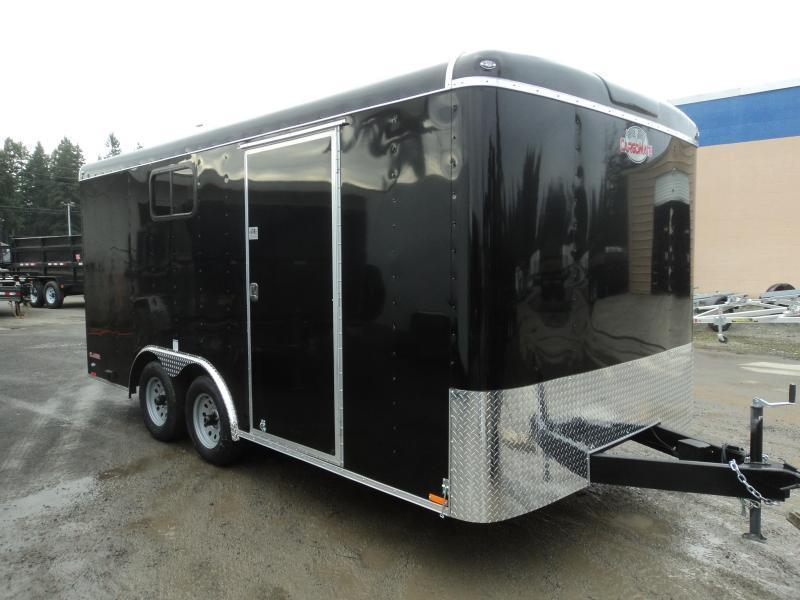 2021 Cargo Mate Blazer 8.5x16 7K w/Extra Height/110 Volt Package/Window/ and Ramp Door