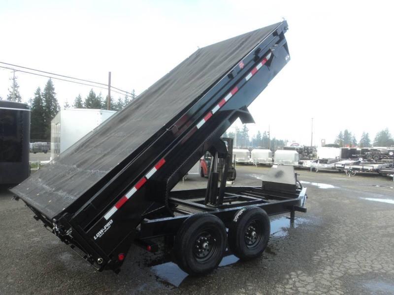 2020 PJ 7x14 14K Dump Trailer with Tarp Kit/Spreader Gate/10K Jack