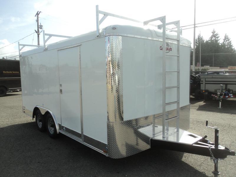 2020 Cargo Mate Blazer 8.5x16 7K wLadder Racks/Ramp/Extended tongue