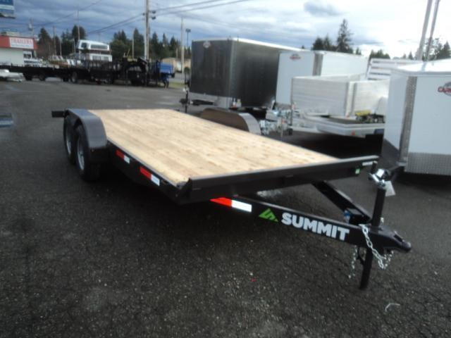 2019 Summit Cascade 7x18 10K w/Removable Fenders Flatbed Trailer