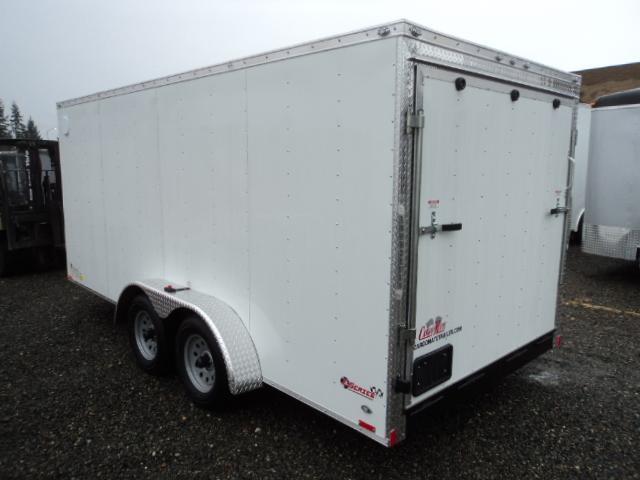 2020 Cargo Mate E-series 7x16 7Kw/Extra Height/Wedge w/Rear Ramp Door