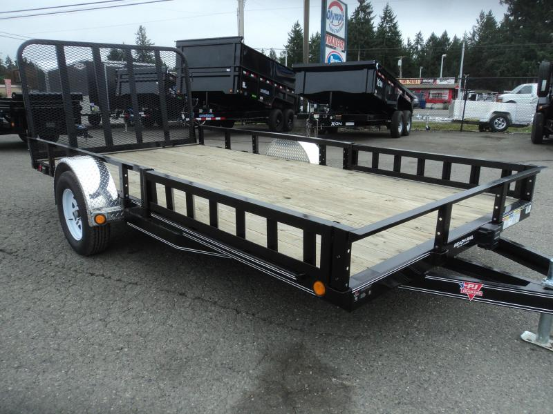 2020 PJ 7X14 Utility w/Heavy Duty Fold-up Gate