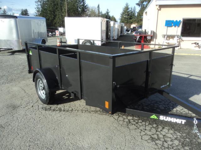 2020 Summit Alpine 5X10 Single Axle W/Split Ramp Utility Trailer