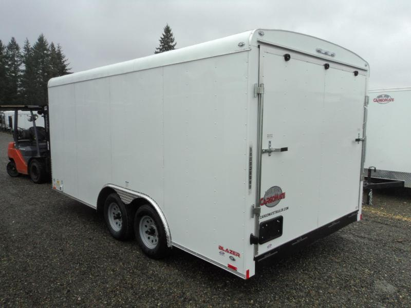 2020 Cargo Mate Blazer 8.5x16 7K w/110 Volt Package/Extra Height/Window/and Ramp Door