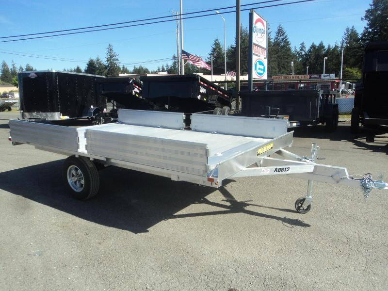 2020 Aluma 7X12  A8812 3 PLACE QUAD TRAILER