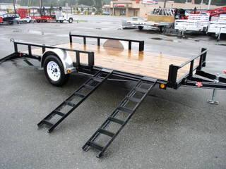 2020 PJ Trailers 7X14 with Side Mount ATV Ramps/Fold In Gate