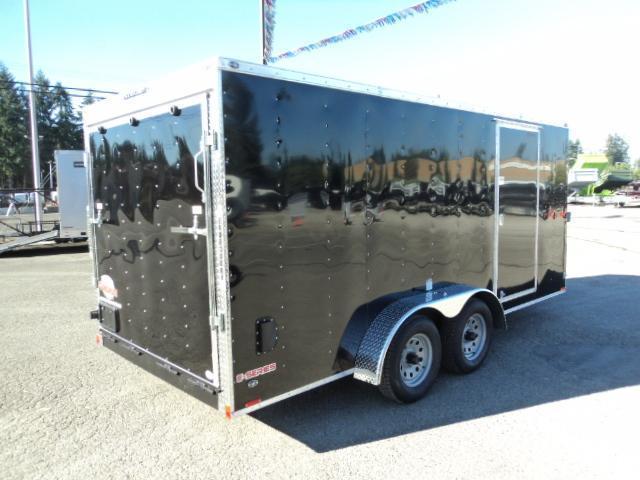 2020 Cargo Mate E-series 7x16 7K V-nose w/Extra Height/Rear Ramp Door