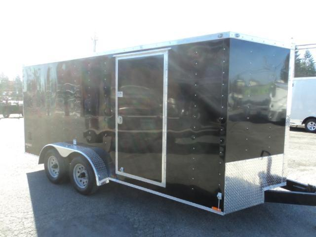 2020 Cargo Mate E-series 7x16 7K V-nose w/Extra Height/Rear Ramp Door