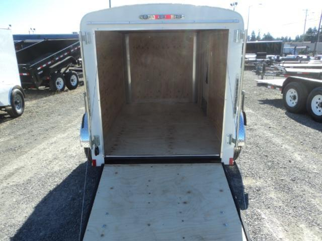 "2020 Cargo Mate Blazer 5x8 with 6"" extra height/Rear Ramp Enclosed Cargo Trailer"