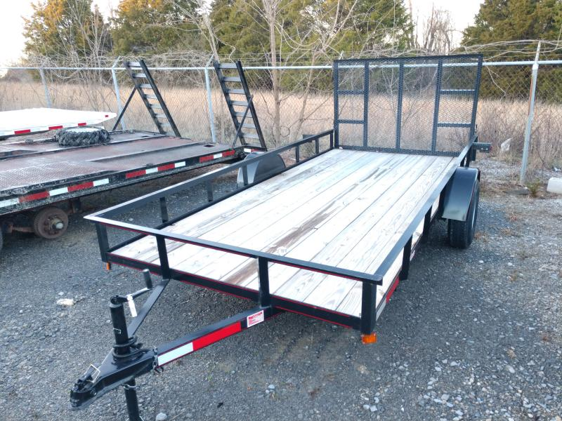 Used 6x14 Straight Deck Utility w Ramp