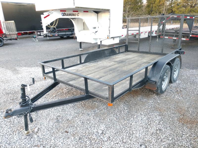 Used 77x14 Tandem Axle Utility Trailer