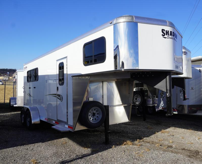 2020 Shadow Trailers 64170W-3SL-GN-E Horse Trailer