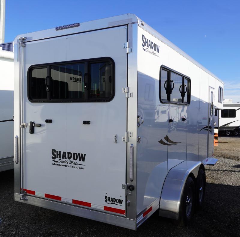 2020 Shadow Trailers 64170W-3SL-GN-E Horse Trailer