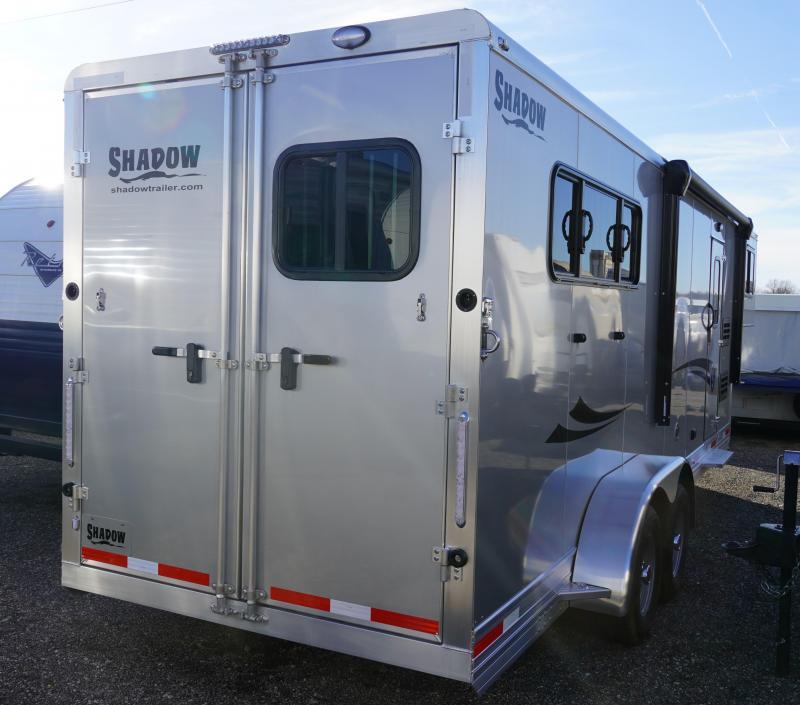 2020 Shadow Trailers 69220S-3SL-GN-E-LQ Horse Trailer