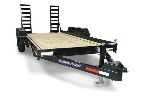 2020 Sure-Trac 7x14 14K Skid Steer Equipment Trailer