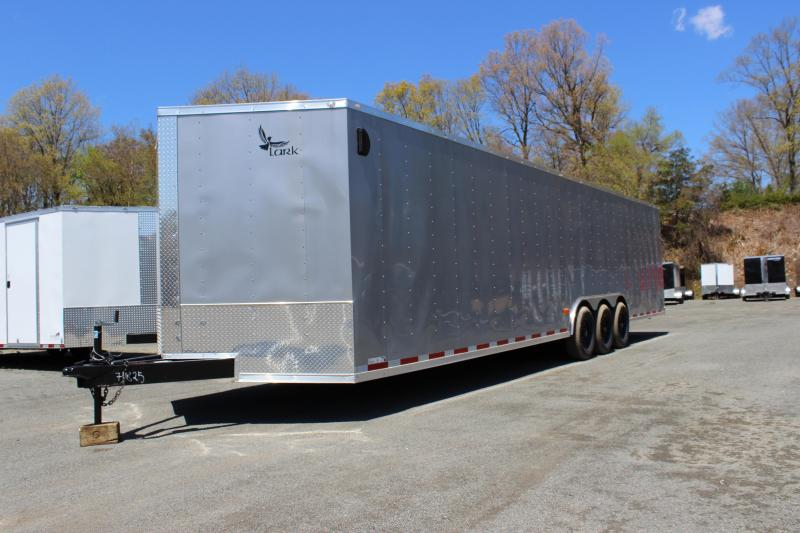 2020 Lark United 8.5x34 Tri-Axle Enclosed Car Hauler Trailer