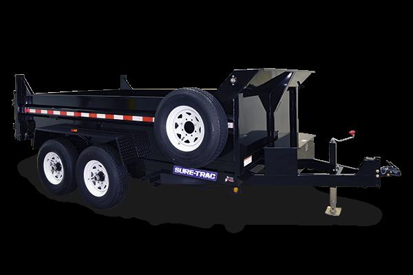 2019 Sure-Trac 7x14 14K LowProfile Dump Trailer [DUAL RAM] TARP INC.