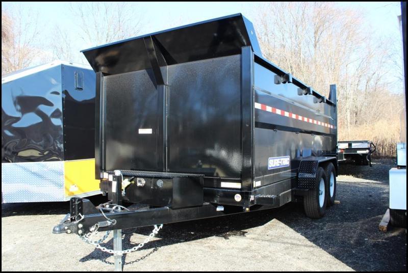 2020 Sure-Trac 7x14 14K LowProfile Dump Trailer [SCISSOR - HIGH SIDE]