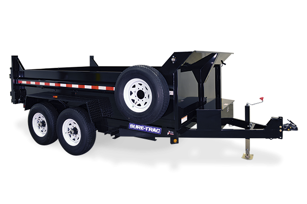 2019 Sure-Trac 7x16 14K LowProfile Dump Trailer [SCISSOR-HIGH SIDES]