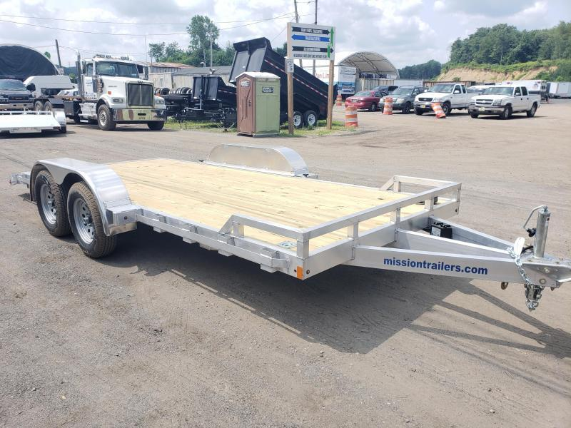 2020 Mission 7x18 Wood Deck Aluminum Car Trailer