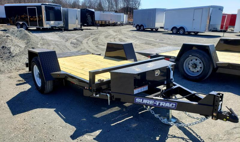2019 Sure-Trac 5X10 6K Single Axle Tilt Bed Equipment Equipment Trailer