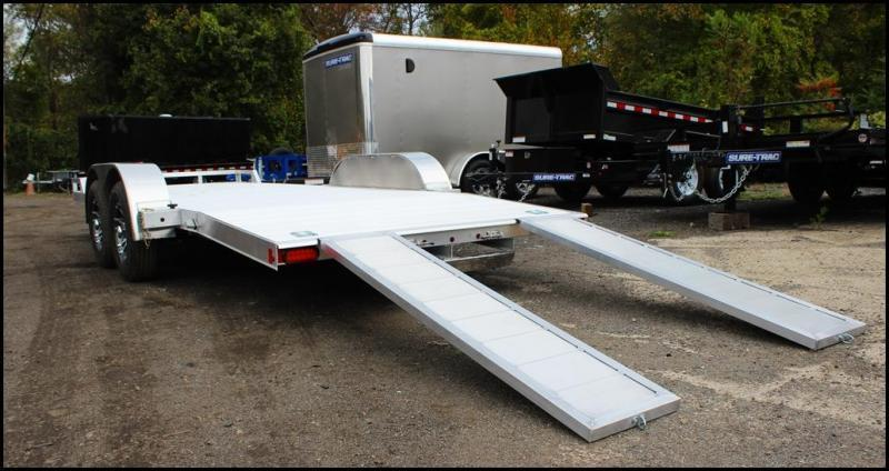 2020 Mission 7X18 7K Aluminum Car Trailer