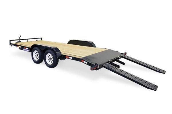 2020 Sure-Trac 7x18 10K Wood Deck Car Trailer