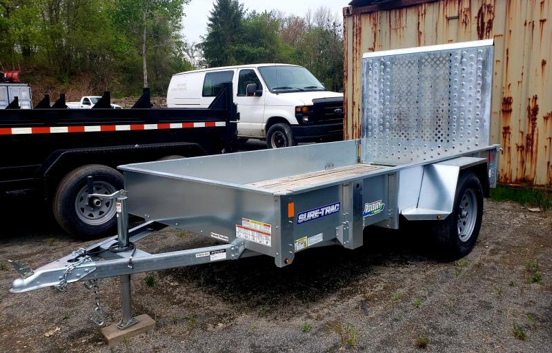 2019 Sure-Trac 5x10 Galvanized High Side Utility Trailer