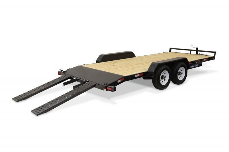 2020 Sure-Trac 7x20 7K Wood Deck Car Trailer