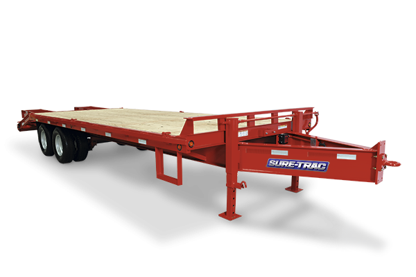 2020 Sure-Trac 8.5x20+5 22.5k Beavertail Deckover Equipment Trailer