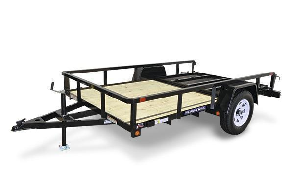 2020 Sure-Trac 7x14 SA Tube Top Utility Trailer