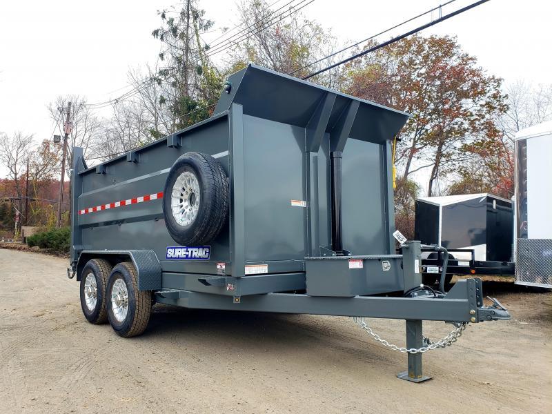 2020 Sure-Trac 7x12 14K LowProfile Dump Trailer [TELESCOPIC - HIGH SIDE] ALUM RIMS.SPARE.TARP.STABILIZER JACKS.