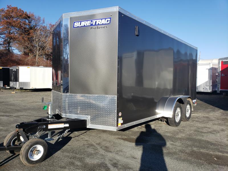 2020 Sure-Trac 7x16 Enclosed PRO SERIES WEDGE Cargo Trailer