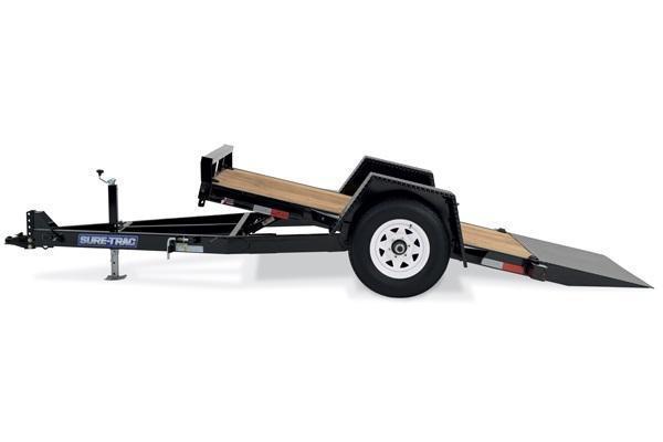 2020 Sure-Trac 5X10 6K Single Axle Tilt Bed Equipment Equipment Trailer