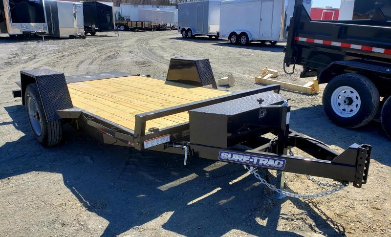 2019 Sure-Trac 6.5X12 10K Single Axle Tilt Bed Equipment Equipment Trailer