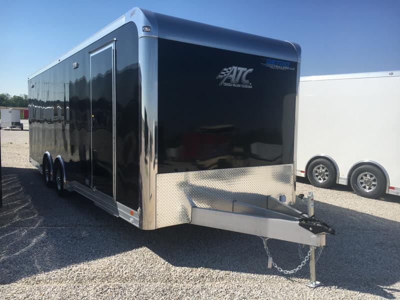 2019 ATC 8.5X24 Black Aluminum Car/Racing Trailer