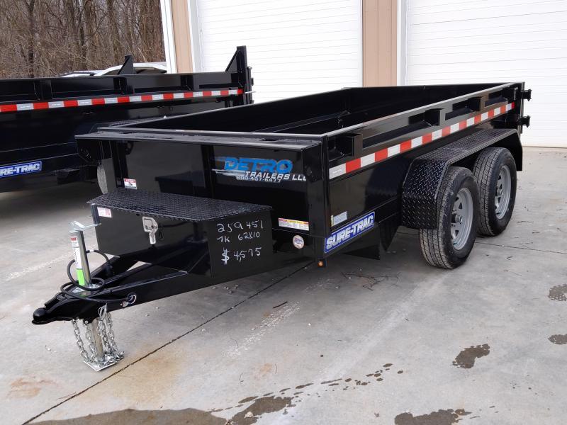 2019 Sure-Trac 62in x 10 Low Profile Dump 7K Single Ram