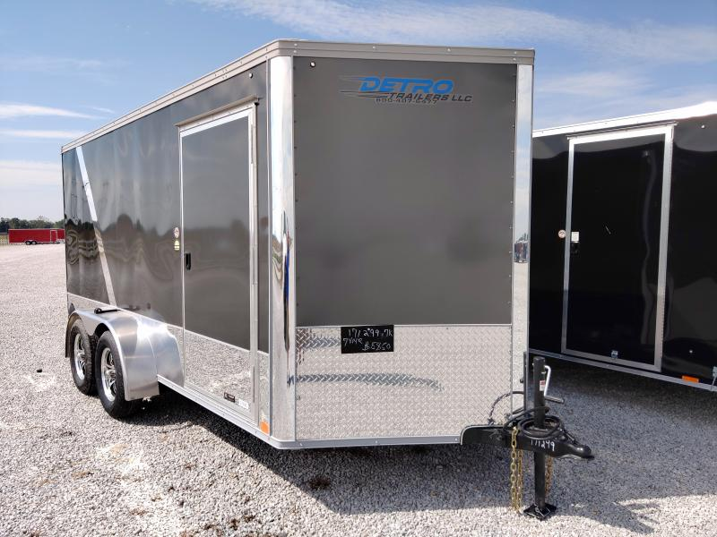 2021 United Trailers 7X14 Charcoal/Black Motorcycle Trailer
