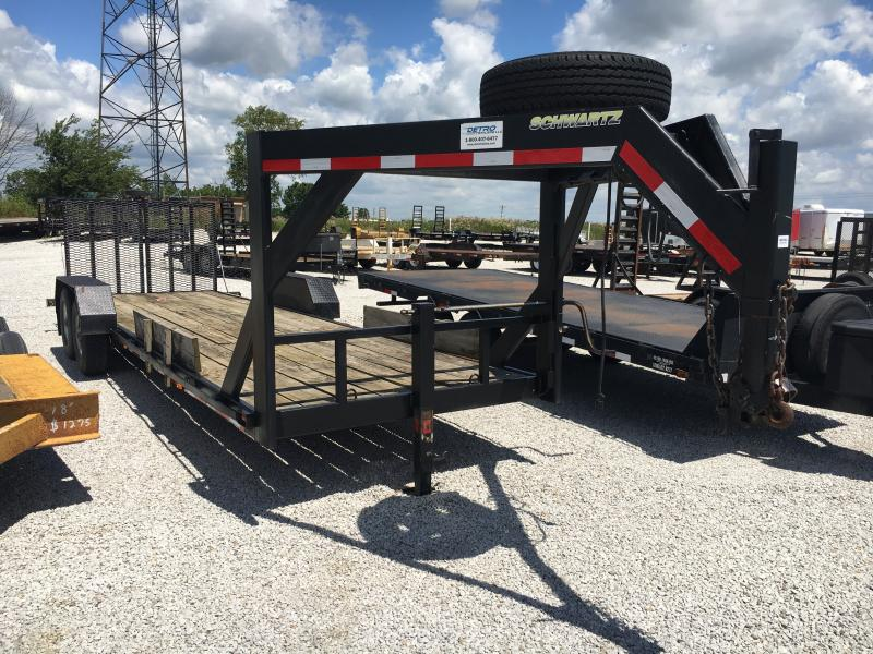 Used 2001 22' Flatbed Trailer