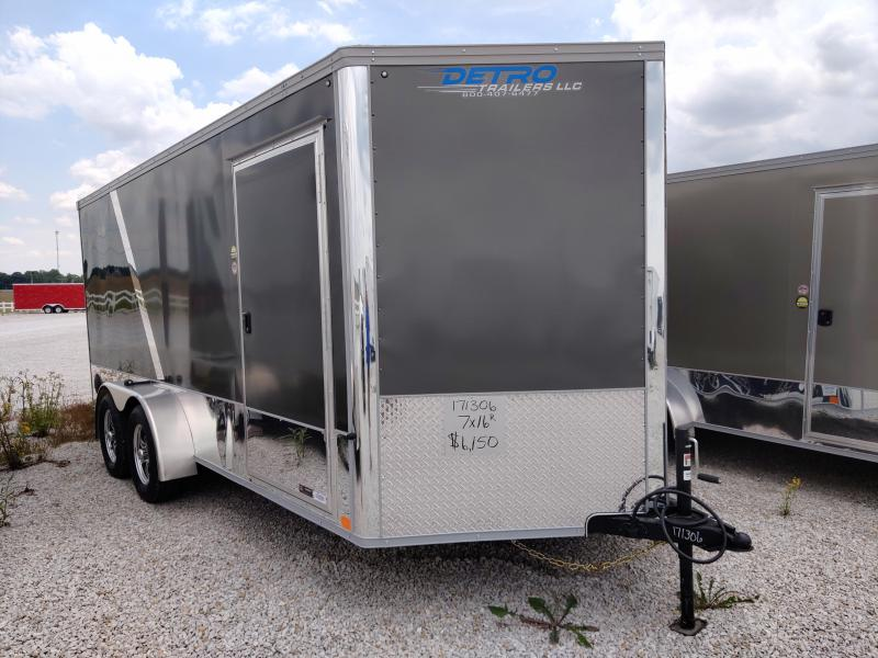 2020 United Trailers 7X16 Charcoal/Black Motorcycle Trailer
