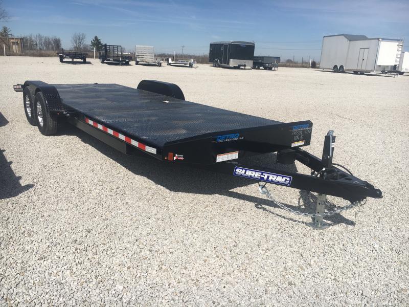 2020 Sure-Trac 7 x 24 Steel Deck Car Hauler  10K
