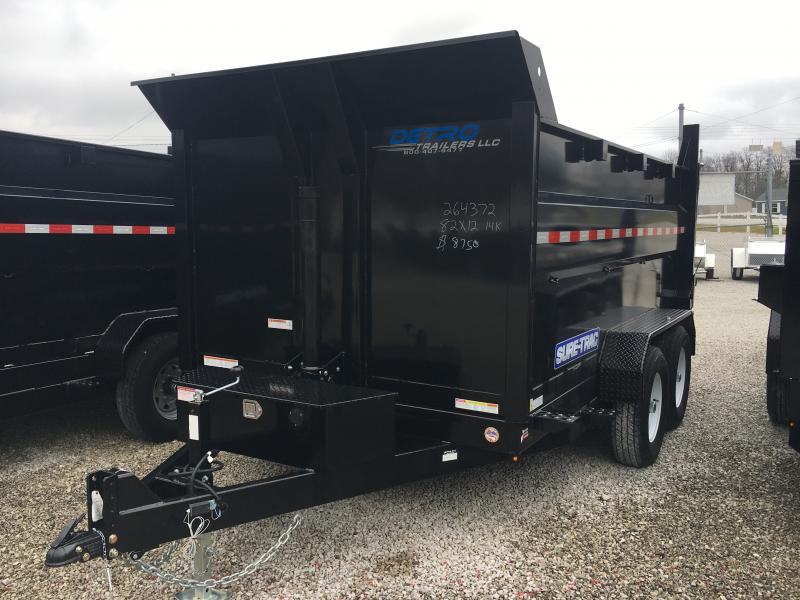 2019 Sure-Trac 82 IN X 12' 14K Telescopic 4ft Sides