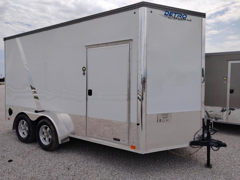 2020 United Trailers 7X14 White Motorcycle Trailer