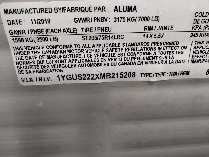 2020 Aluma 81X22 Utility Trailer