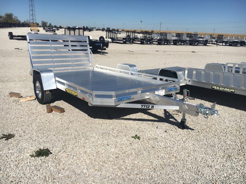 2020 Aluma 77X12 Straight Tailgate Utility Trailer