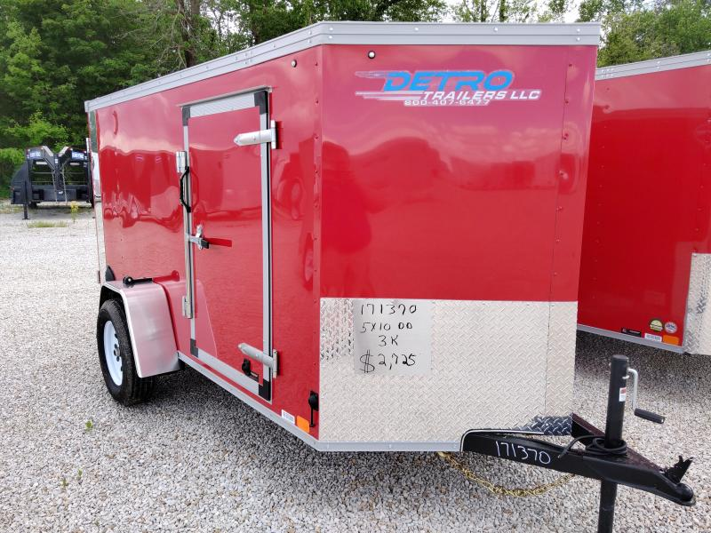 2021 United Trailers 5X10 Enclosed Double Rear Door Trailer